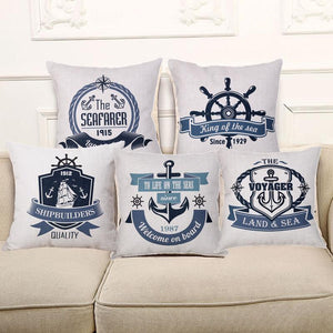 Nautical Series - Cushion Cover - Cushion - PurpliKi