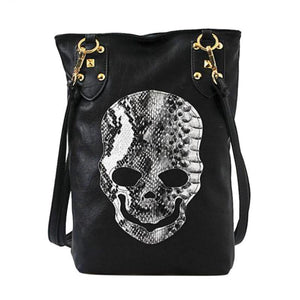 Skull Leather Messenger Handbag - Shoulder Bags - PurpliKi