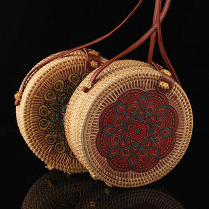 Vintage Handmade Rattan Woven Bag - Shoulder Bags - PurpliKi