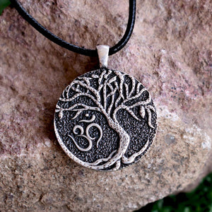 Om Tree of Life Pendant - Chain Necklaces - PurpliKi