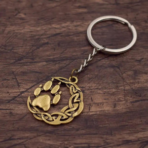 Knotted Moon Wolf Paw Key Chain - Key Chain - PurpliKi