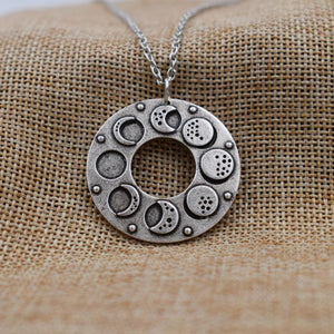 Phases of The Moon Amulet - Necklace - PurpliKi