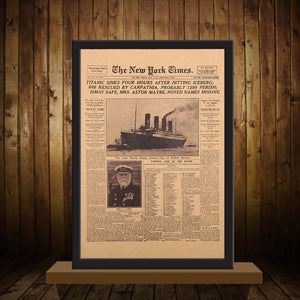The New York Times - Titanic Shipwreck - Poster - PurpliKi