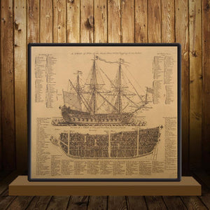 Ancient Warship Design - Vintage Poster - Poster - PurpliKi