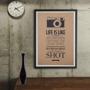 Life Is Like A Camera - Vintage Poster - Poster - PurpliKi