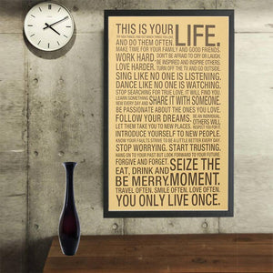 This Is Your Life - Vintage Poster - Poster - PurpliKi