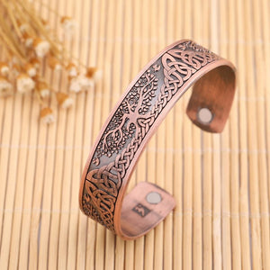 Celtic Tree of Life Engraved Magnetic Bangle - Bangles - PurpliKi