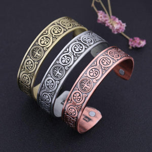 Flower Of Life Magnetic Bangle - Bangles - PurpliKi