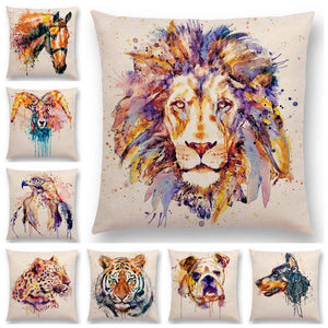 Watercolor Animals - Cushion Cover - Cushion Cover - PurpliKi
