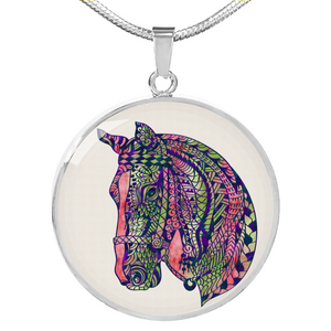 Equestian Horse Necklace - Jewelry - PurpliKi