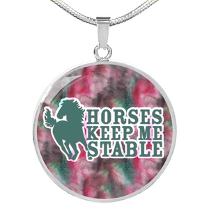 Horses Keep Me Stable Necklace - Jewelry - PurpliKi