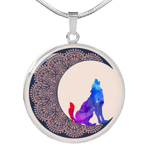 Colorful Wolf Moon Mandala - Jewelry - PurpliKi