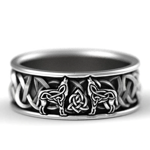Northern Wolf Ring - 925 Silver - Ring - PurpliKi