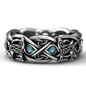 Celtic Wolf Ring - 925 Silver - Ring - PurpliKi