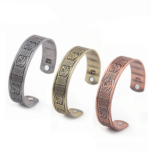 Engraved Dragon Magnetic Therapy Bangle - Bangles - PurpliKi