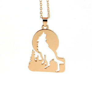 Growling Wolf Pendant - Chain Necklaces - PurpliKi