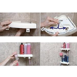 Corner Shower Storage Shelf - Bath Caddies - PurpliKi