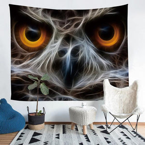 Wall Tapestry - Owl Eyes Animal Hanging Tapestry - Tapestry - PurpliKi