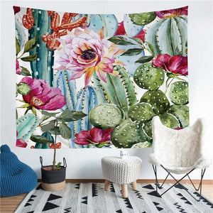 Wall Tapestry - Succulent Cactus Desert Plants Hanging Tapestry - Tapestry - PurpliKi