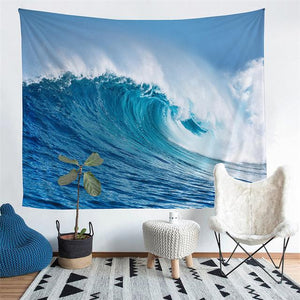 Wall Tapestry - Ocean Wave Hanging Tapestry - Tapestry - PurpliKi