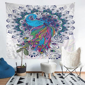 Wall Tapestry - Peacock Mandala Animal Hanging Tapestry - Tapestry - PurpliKi