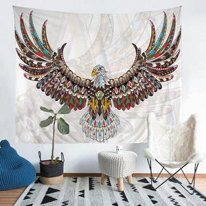 Wall Tapestry - Tribal Eagle Animal Colorful Boho Hanging Tapestry - Tapestry - PurpliKi