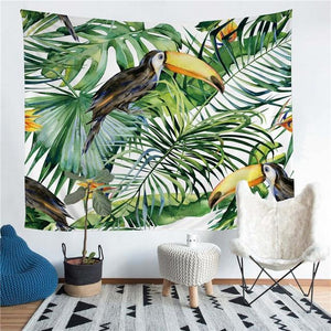Wall Tapestry - Summer Tropical Toucan Hanging Tapestry - Tapestry - PurpliKi