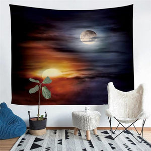 Wall Tapestry - Yin Yang Sun Moon Hanging Tapestry - Tapestry - PurpliKi