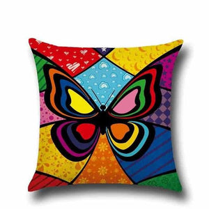 Colorful Butterfly - Cushion Cover - Cushion Cover - PurpliKi