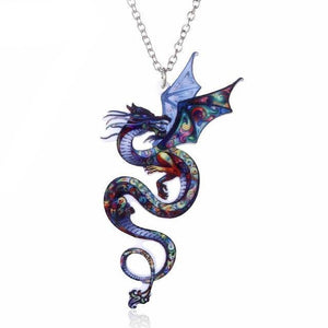 Acrylic Dragon Necklace - Necklace - PurpliKi