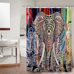 Elephant  Pattern Shower Curtains - Shower Curtain - PurpliKi
