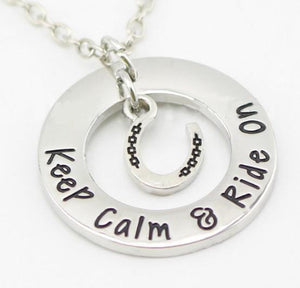 Keep Calm & Ride On Pendant Necklace - Pendant - PurpliKi