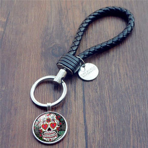 Sugar Skull Key Chain - Key Chain - PurpliKi