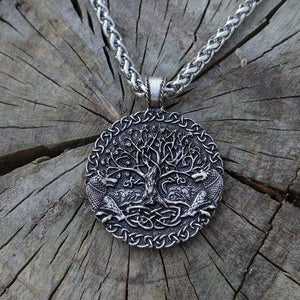 Wolves and World Tree Sigil Pendant - Pendant - PurpliKi