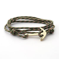 String Laces Anchor Bracelet