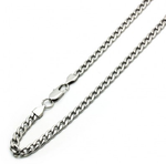 "6mm Silver Steel Cuban Curb Chain Necklace 16"" to 40"""