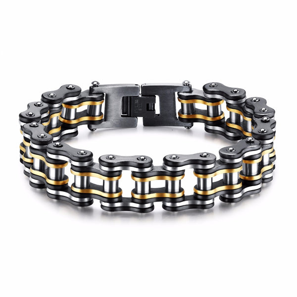Stainless Steel Heavy Bike Chain Bracelet 15mm