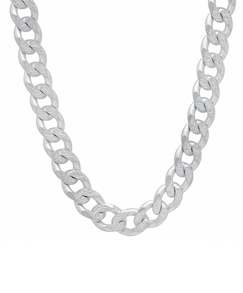 in necklace curb lyst metallic chain chanel jewelry long silver