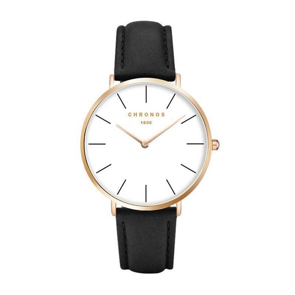 The Classic- Luxury Ultra Slim Quartz Leather Strap Watch
