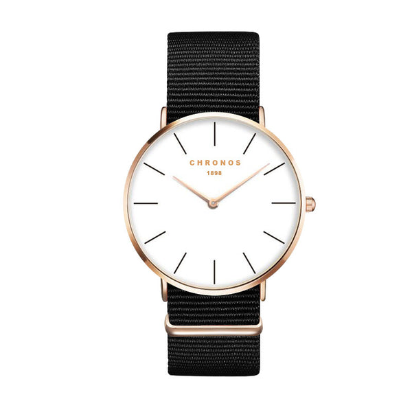 Simple - Luxury Ultra Slim Quartz Nylon Strap Watch