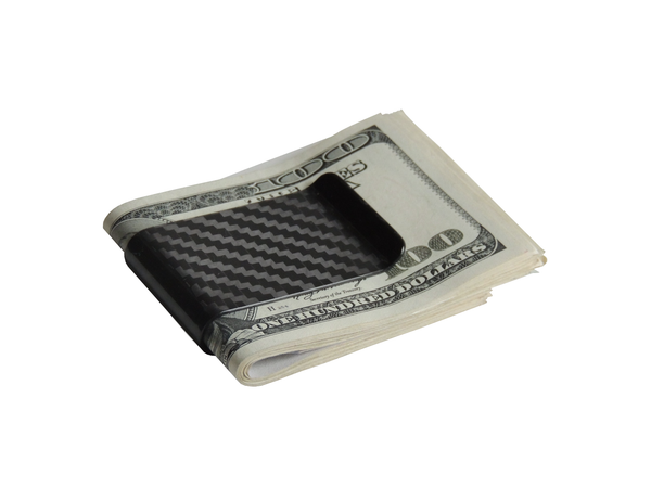 Black Carbon Fiber Money Clip Wallet