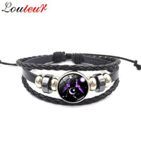 Leather Zodiac Star Signs Bracelet