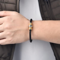 Screw Bolt Leather Bracelet