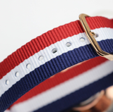The Patriot - Luxury Ultra Slim Quartz Nylon Strap Watch