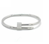Hexagon Square Screw Steel Nail Cuff Bangle