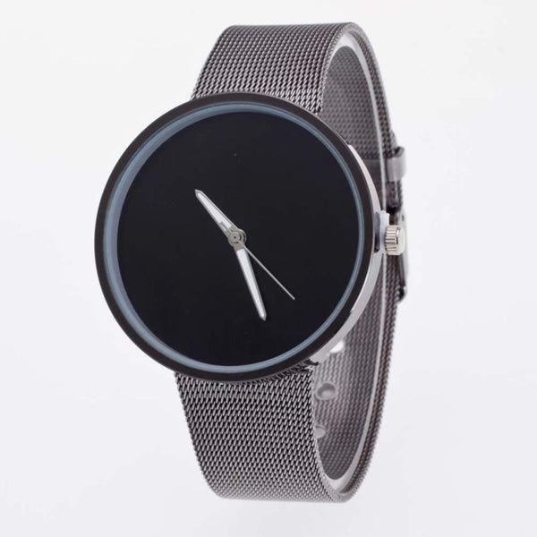 Basic Steel Minimal Mesh Watch