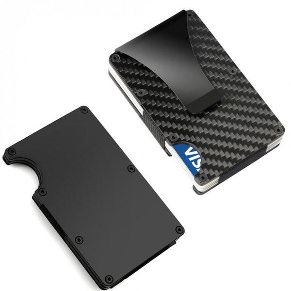 Minimal Carbon Fiber Credit Card Holder Wallet