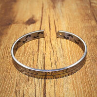 Vintage Titanium Steel Ruler Cuff Bangle