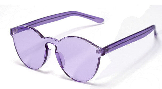 Transparent Round frame Candy Sunglasses