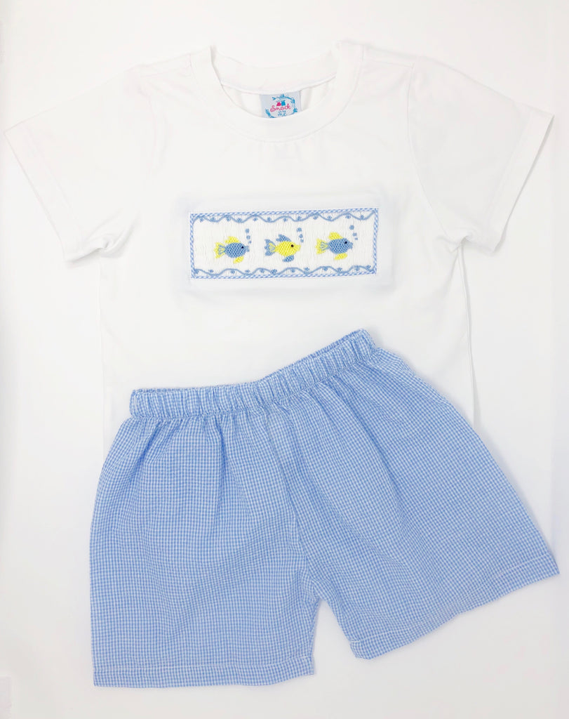 Folly Beach Fishies Boys Short Set